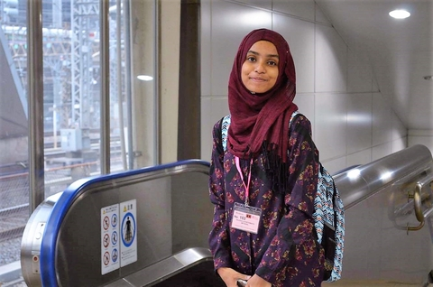 Fathimath Imthisal Saudulla, 18 years. Working as an UNFPA intern, starting on September 11th 2017, after finishing A levels.